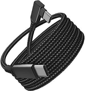 5M Type C Snelle oplaadkabel, compatibel met Oculus Quest 2 USB C tot C Gevlochten kabelgegevens Transmissiedraad Onderste...
