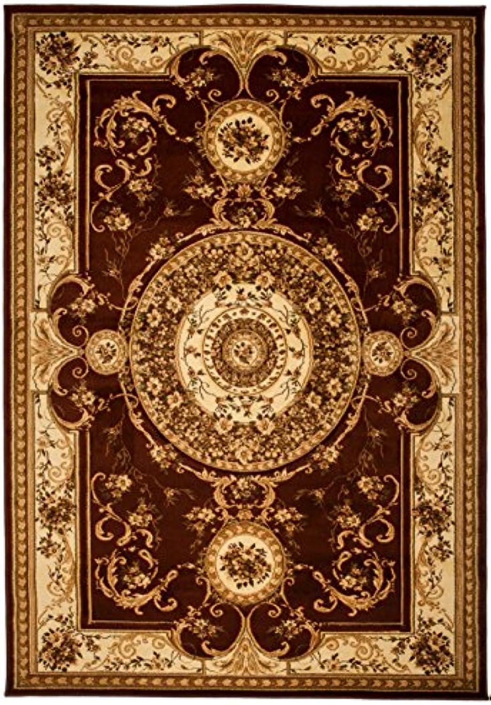 Carpeto Teppich Klassisch Orientalisch Muster 3D-Effekt Konturenschnitt Meliert in Braun Dunkelbraun, Sehr Dicht Gewebt, KO Tex (300 x 400 cm)