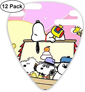 Snoopy and Peanuts Guitar Picks Customized Fashion 12 Pack Picks for Musical Instruments
