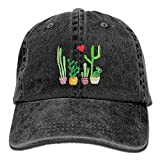 Cacti Cactus Love Artical Unisex Adult Adjustable Leisure Dad Cap Black