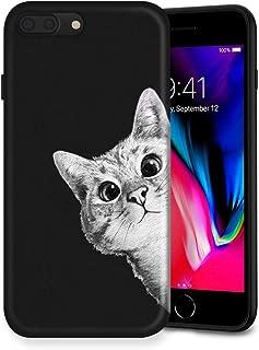Litech™ Case for Apple iPhone 7 Plus/iPhone 8 Plus [Flexfit] Premium Scratch-Resistant Cute Creative Artistic Design (Cat 4)