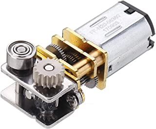 Hvlystory GM12YN20-3DP DC12V 11RPM Right Angle Output Metal Gearbox Micro Gear Motor for 3D Pen