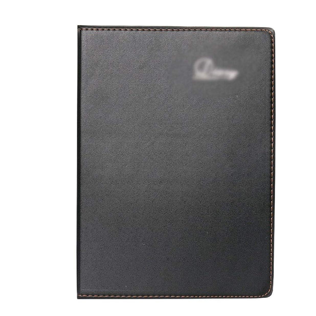 ノートを厚くする ノートブックブラックメモ帳ポータブルポータブル作業会議記録帳肥厚日記A4シンプルビジネス (Color : Black, サイズ : 29*21.5cm)