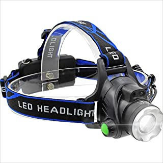 XHHWZB Antorcha de Cabeza LED, Faro Recargable, 1000 Lúmenes Zoomable, Linterna Ajustable a