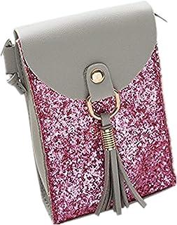 6cc92f7808 WORMENG Sac femme,Mode Sac à bandoulière Porte monnaie Sac de paillettes En  cuir Paillette
