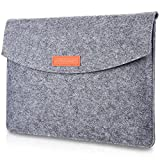 "ProCase 13-13.5 Inch MacBook Pro 13 / MacBook Air/Retina MacBook Pro/Surface Laptop/Surface Book 3 13.5'/ 12.9"" iPad Pro Sleeve Case Cover Ultrabook Netbook Carrying Case Protective Bag -Gray"