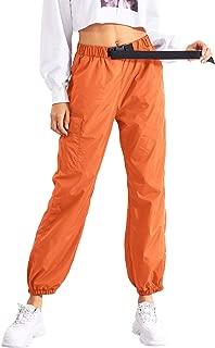 Floerns Women's Drawstring Pockets Casual Thin Hiking Cargo Pants