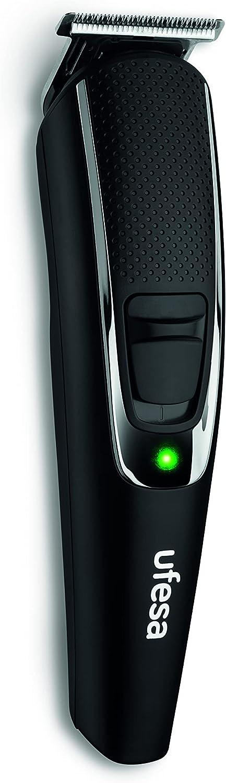 Ufesa MB3000 Máquina Cortapelos y Recortadora de Barba, 9 Longitudes de Corte, Peine Ajustable de 3-10mm, Inalámbrico, 120min de Autonomía, Negro