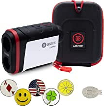 GolfBuddy Laser 1S Golf Laser Rangefinder Bundle with 5 Ball Markers and 1 Magnetic Hat Clip