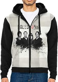 WustegHoodie Men's Halestorm Music Band Loose Hooded Funny Sweatshirt Zip Hoodie with Pocket