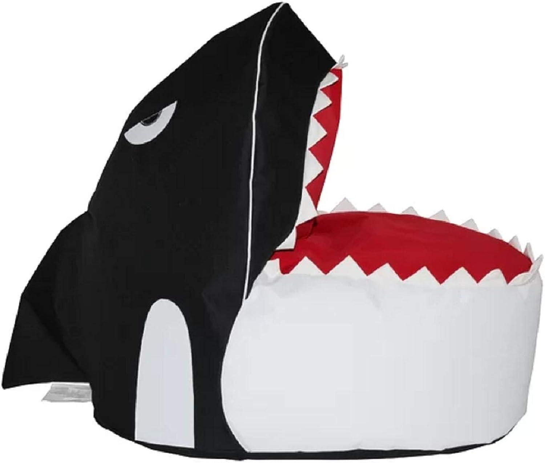 Small Size Bean Bag Chair. 100% Polyester Waterproof Refillable Shark Small Size Bean Bag Chair with A Zipper Closure.