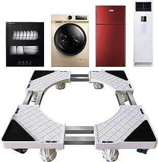 Glenmore Waschmaschine Sockel Untergestell Trockner Kuehlschrank Podest mit 8 Rollen Unterbau 2 Stahlstangen Verstärkt Gestell Transportroller Rollbrett fuer Moebel