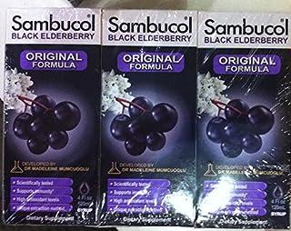 Sambucol Black Elderberry Original Formula 4 Oz (Pack of 3)