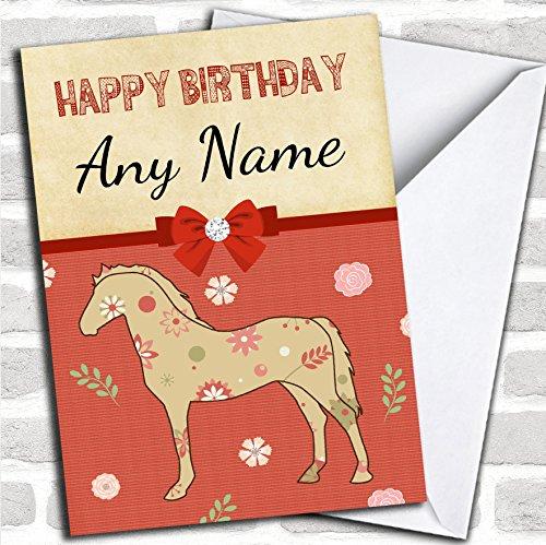 Mooie Paard Koraal Verjaardagskaart Met Envelop, Kan Volledig Gepersonaliseerd, Verzonden Snel & Gratis