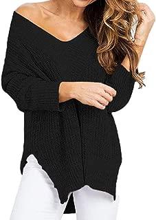 ★ Futurelove ★ Women's Long Sleeve Pullover Sweater Shirt V-Neck Blouse Oversize Knit Tops