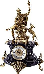 Bright Despertadores mecánicos Reloj de Mesa Cerradura clásica Bronce Tallado decoración Retro Cerradura Decorativa 30x47x16cm