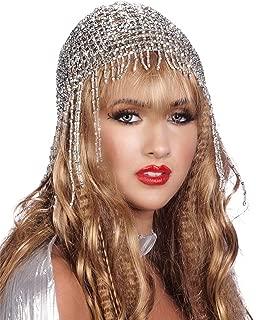 Arsimus Beaded Mesh Gypsy Flapper Cleopatra Boho Cap