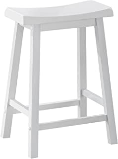 Monarch Specialties , Saddle Seat Barstools, White, 24