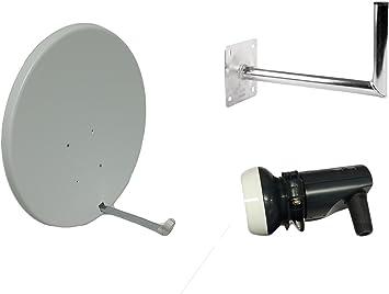 TV Tech Antena parabólica de 90CM para cielo, freesat, Arabsat, Polsat, Hotbird, Eurosat, Astra 1 y 2…