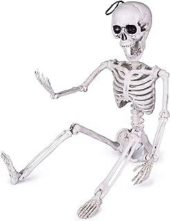 24 Inches Halloween Skeleton, Full Body Posable Skeleton for Halloween Decorations, Graveyard Decorations, Haunted Houses, Creepy Decoration