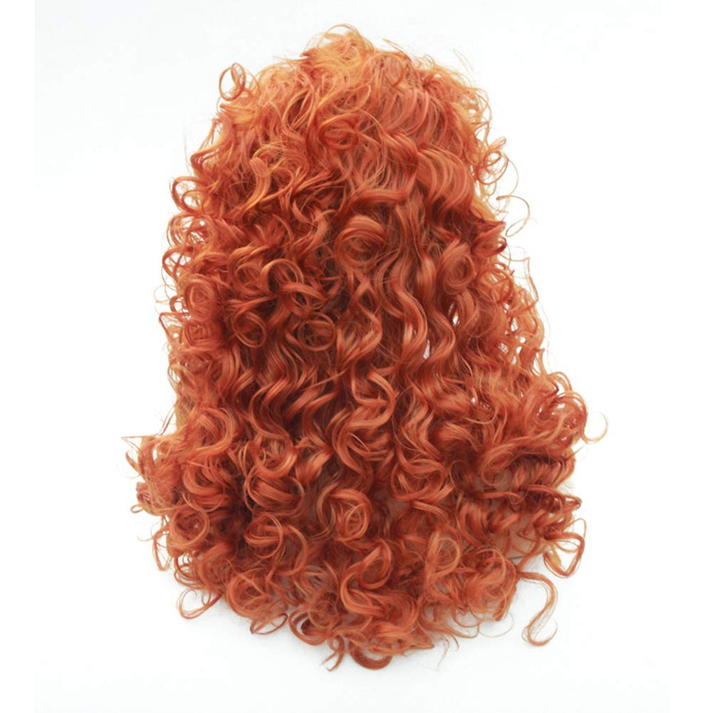 Halloween Manga Cosplay Wig for Women /& Girls Dressing-up Party Pretend Game Costume Dance Performance Wig Multi-colored Hair w//Oni Horns /& Colorful Bangs
