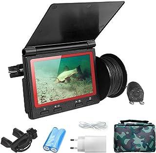 Lixada Monitor de 4.3 Pulgadas Buscador de Peces 1000TVL Cámara de Pesca Submarina Buscador de Peces de 180 Grados (Adecua...