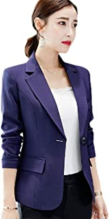 neveraway Womens Slim Long-Sleeve 1 Button Notch Lapel Outwear for Office Wear