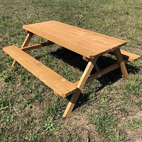 TikTakToo Massive Sitzgarnitur mit klappbaren Sitzbänken 175 x 154 x 74 cm Picknickbank Picknicktisch
