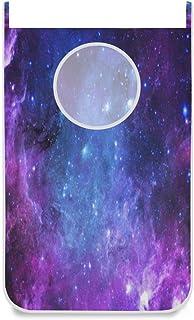 N\A Panier à Linge Suspendu Nebula Purple Galaxy Porte/Mur/Placard Suspendu Grand Panier à Linge pour Organisateur de Rang...