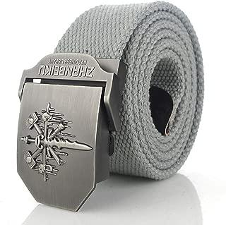 Canvas Belt Men's Canvas Belt Skull Sword Metal Buckle Military Belt Army Tactical Belts Male Men Strap