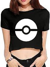 TLK Custom Women Subtle Pokeball Pokemon Logo Crop Top