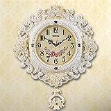 Komo silencioso Moderno Decoración Adorno para Hogar Reloj de Pared Personalizado Creative Arts salón Las Campanas del Reloj de Cuarzo Tabla /63x51cm.