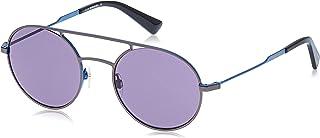 نظارات شمسية للجنسين من ديزل DL030109V51 - رمادي داكن غير لامع/ازرق معدني