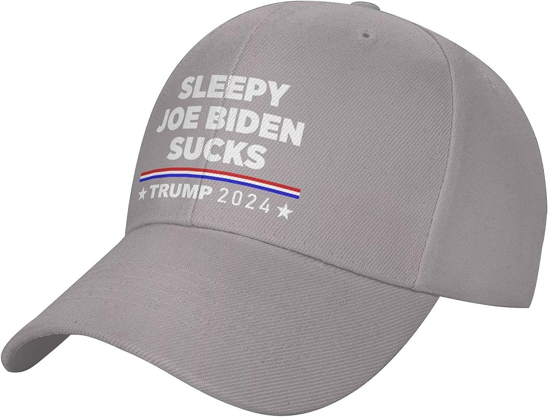 Sleepy Joe Biden Sucks Baseball Cap Mens Sun Hat Black Sports Hat Womens Trucker hat