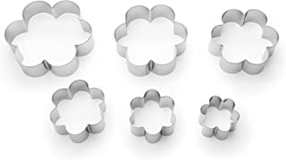 Fox Run 3621 Flower Cookie cutters, 6 piece, Metallic