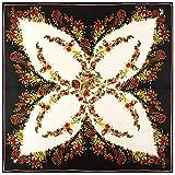 Nueva bufanda de seda con estampado floral de mariposa, bufanda cuadrada de seda de sarga de 130 cm, bufanda de chal para mujer