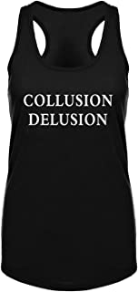 GROWYI Funny Workout Tank Tops Racerback for Women with Saying Collusion Delusion Political Fitness Gym Sleeveless Shirt B...