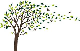 comprar comparacion Bdecoll Adhesivo mural decorativo de vinilo, Naturaleza Bosque wandtat árboles y hojas pared pájaros vinilo decoración de ...