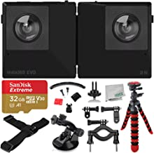 Insta360 EVO 3D/2D Convertible 360/180° VR Camera Essential Bundle with 32GB microSDXC and More