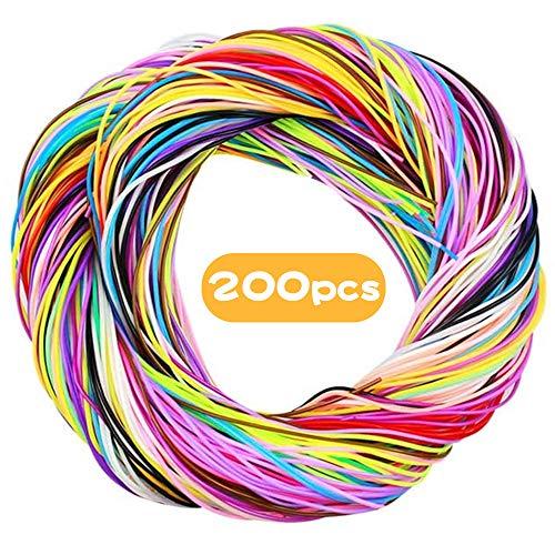 Scoubidou Hilo Plastico, 200 piezas Hilo Plastico, hilo para Pulseras DIY, Joyería (20 Colores)