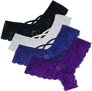 03c8140571324 Trunlay Femmes Sexy Culotte String Slip en Dentelle Y Pantalon Erotique  Lingerie érotique Tentation sous-