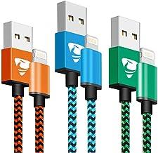 Aioneus Cargador iPhone Carga Rápida MFi Certificado Cable iPhone 2M 3 Pack Cable Lightning Trenzado Nylon Movil Cables Cargador para iPhone 11 Pro MAX XR XS MAX X 10 8 7 6s 6 Plus 5s 5 SE, iPad
