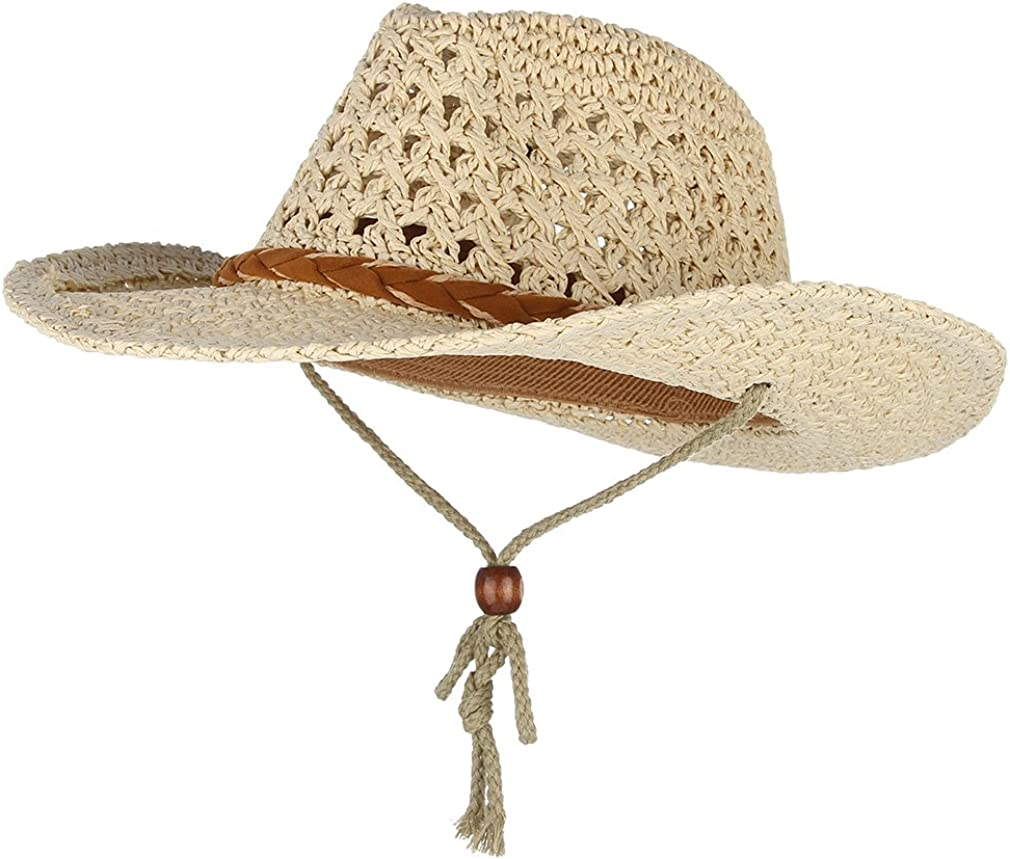 Crushable Straw Fees free!! Sun Hat It is very popular Hollow Summer Cap Cowboy Beach P Western