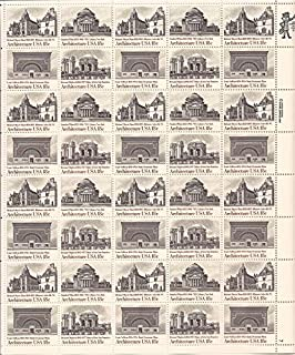 US Stamp - 1981 American Architecture - 40 Stamp Sheet #1928-31
