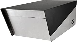 KATANABOX Prime DR - Stainless Steel Post Mount Modern Design Mailbox with Lock and Key Extra Large Letterbox Rust Proof for Modern Home House Apartment Rural Roadside 19