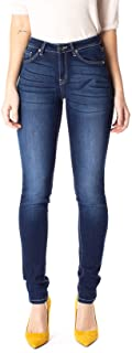Kan Can Women`s Mid Rise Super Skinny Jeans