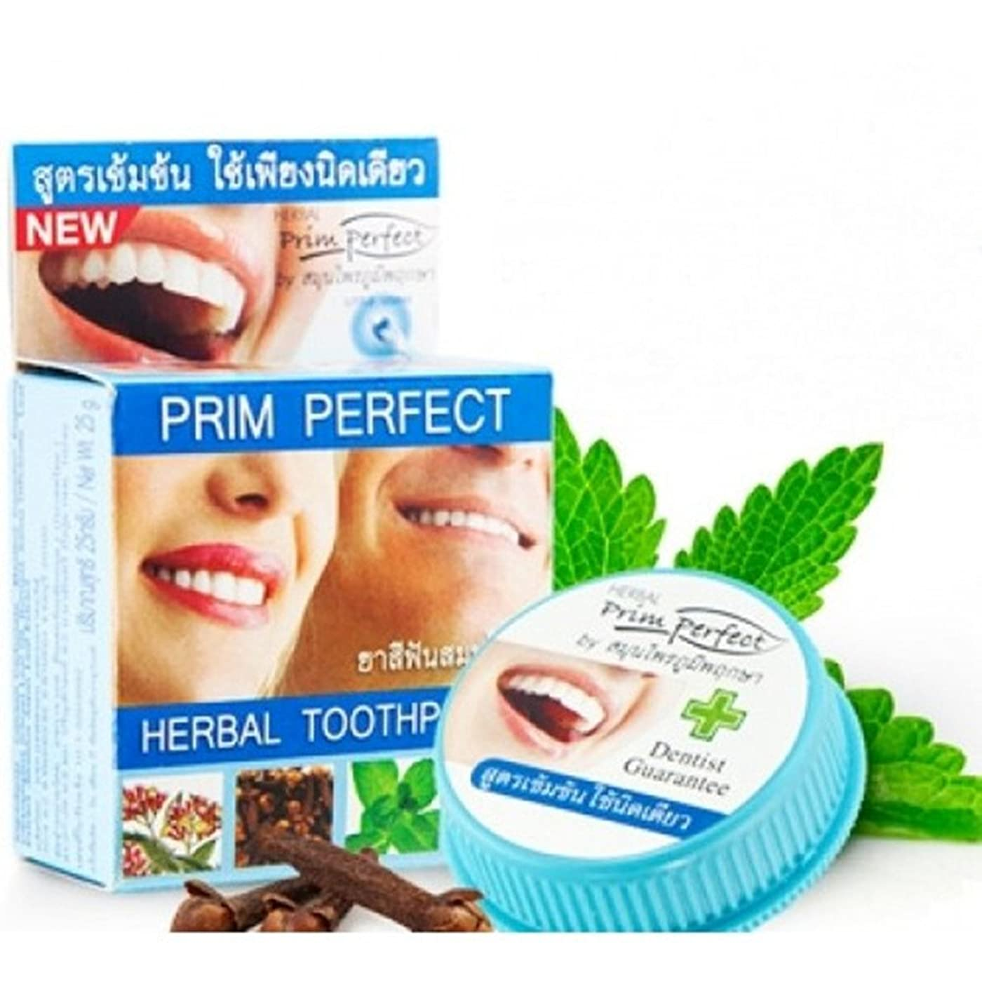 急降下地球引き付ける練り歯磨き ハーブ Thai Herbal Herbal Clove Toothpaste