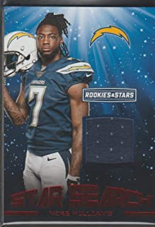 2017 R&S Mike Williams Chargers Game Used Jersey Football Card #21