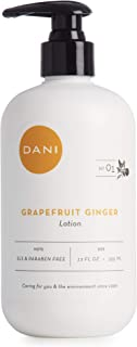 Natural Hand & Body Lotion by DANI Naturals - Invigorating Grapefruit Ginger Scented Aromatherapy - Moisturizing Shea & Aloe - with Natural & Organic Ingredients - To Nourish Dry Skin -12 Ounce Bottle