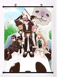 アニメ中のひとゲノムウォールスクロールポスターウォールハンギングポスターオタクアニメーション周辺ファンギフト-50x75cm,20inchx30inch
